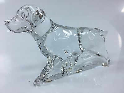Baccarat Crystal Labrador Hunting Dog