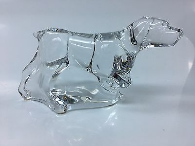 Baccarat Crystal Pointer Retriever Hunting Dog