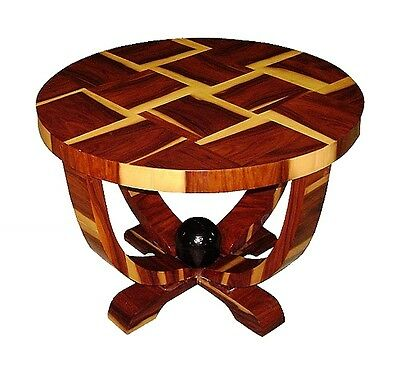 Gorgeous Art Deco style Brazilan rosewood side table