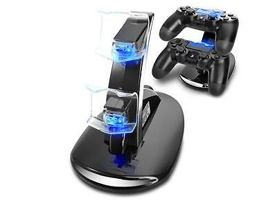 Sony PS4 Controller Charger Dual USB Fast Charging Stand Dock LED PlayStation 4