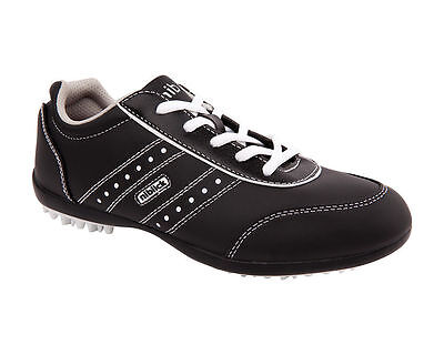New Niblick Leonay Lady Crossover Microfibre Spikeless Golf Shoe - Black/white