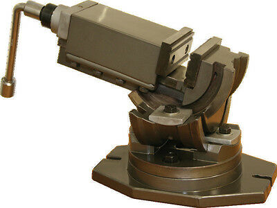 3 Axis Precision Machine Vice - 125mm Jaw Width. Universal Operation.