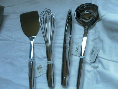 New Williams Sonoma Stainless Steel Cooking Tool Set Of  4