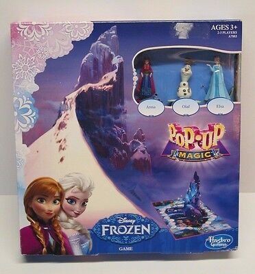 NIB Disney Frozen Pop Up Magic Game Hasbro ages 3+ Elsa, Olaf, Anna figures
