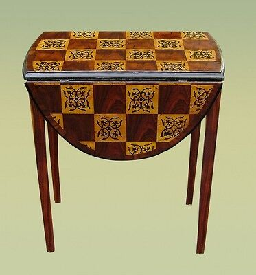 Wonderful rococo parquetry style Drop leaf center table