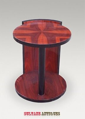 Best Art Deco Style side table in open book Rosewood.