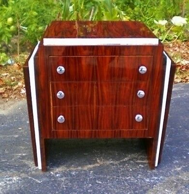 Fantastic Art Deco style rosewood commode