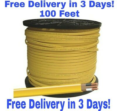 12/2 W/Ground Romex Indoor Electrical Wire 100' Feet Pink Or Yellow