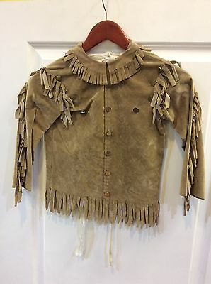 Boys Old Time Photo Costume Western Fringe Tunic Small S Bloodgoods Central Cast