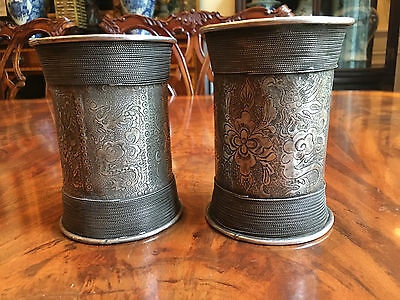 A Pair Large Chinese Antique Silver Cuffs.