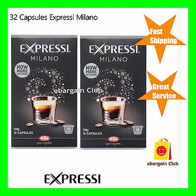 32 Capsules Expressi Coffee Pods Milano Twin Pack (2 boxes)   ALDI eBC