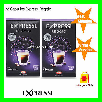 32 Capsules Expressi Coffee Pods Reggio Twin Pack (2 boxes)   ALDI eBC