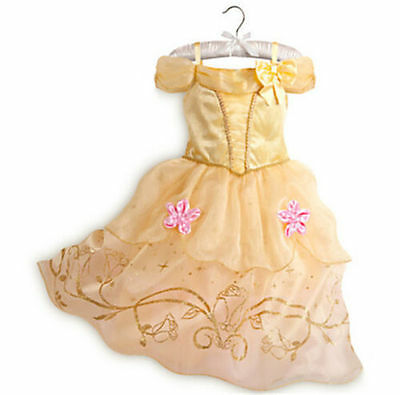 New Princess Belle Beauty & Beast Toddler Fancy Dress Girl Cosplay Costume party