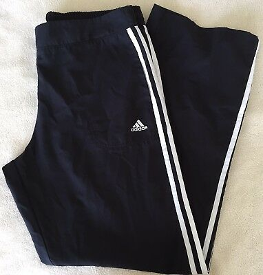 Adidas Track Pants Sz L 3-stripe Black