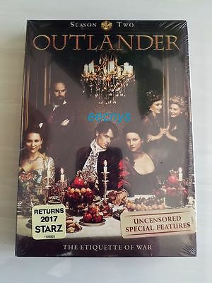 New Outlander: Season Two 2 (DVD, 2016, 5-Disc Set) New & Unopened Free Shipping