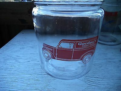 Gordons Potato Chip Counter Jar with lid