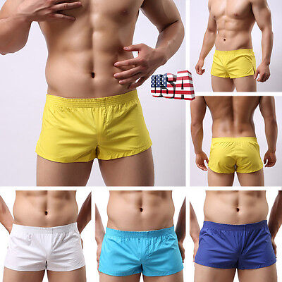 Men Underwear Bulge Pouch Trunks Boxer Briefs Soft Shorts Underpants Short Pants