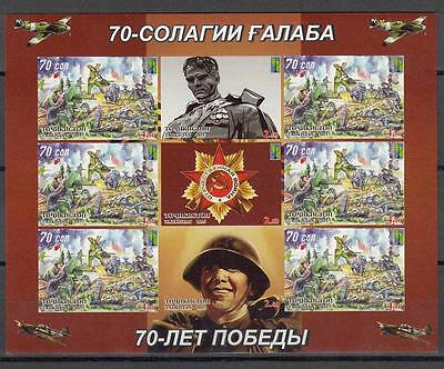 Tajikistan Tadschikistan MNH** 2015 Mi.698-701 B70th Aniv of WWII imperforiert