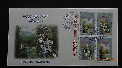 CEPT Georgia 2001 Mi 376-377 Booklet   FDC  Water