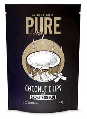 Pure Fields Coconut Chips Smoky BBQ  - 40g