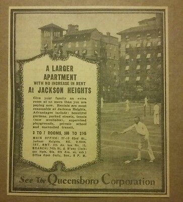 1938 Jackson Heights Larger Apartments Ad
