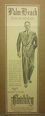 1940 Finchley Man Business Suit Ad Palm Beach Tuxedo