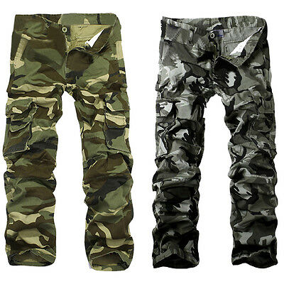 2016 New Combat Men's Cotton Cargo ARMY Pants Military Camouflage Camo Trousers