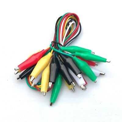 Low Voltage Jumper Wires 18″ w/ insulated alligator clips(10 pack)