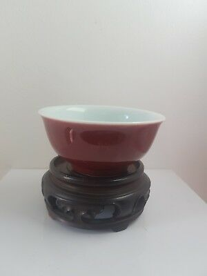 Chease Ming Xuande Festival red glaze Rohan bowl