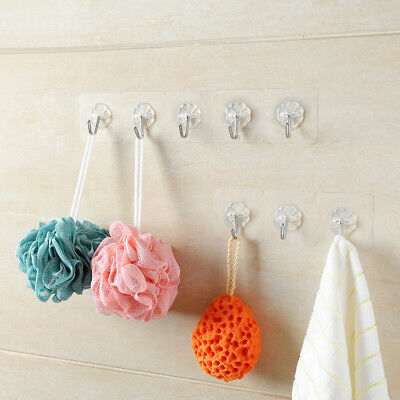 Home Bath 1 Pcs Stick Hook Door Hangers Seamless Strong Adhesive Clothes Hook UF