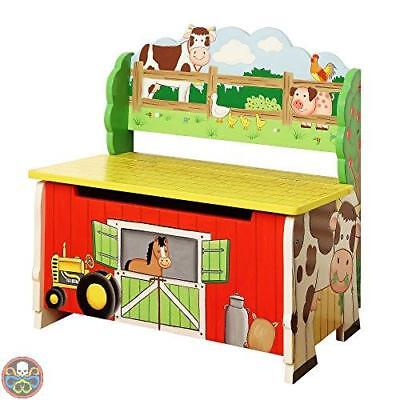 Fantasy Fields By Teamson Multicolore Happy Farm Panchina Per Stoccaggio Nuovo