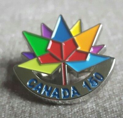 Canada 150 Lapel Pin Badge **BRAND NEW HIGH QUALITY VIBRANT COLOURS VERY SHINY**