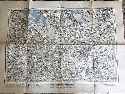 Antique Map Cheshire 1924 OS