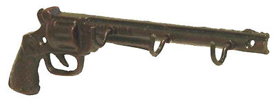 Antique Look Cast Metal Pistol Gun Wall Hook Keys Hooks Home Garden