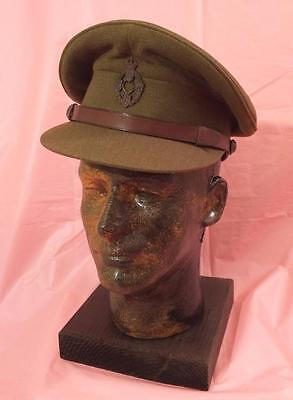 Wwii British Officer'S Visor Cap (Reme ) Royal Elect. & Mechan. Engineers  Minty