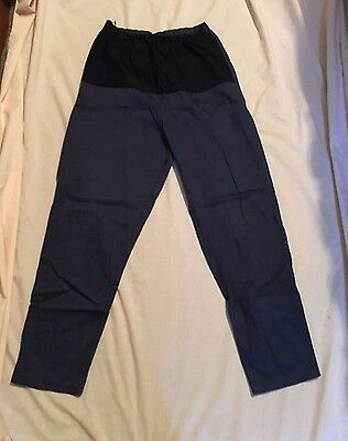 Vintage Maternity Pants Blue Size Small with Stretch Tummy Panel