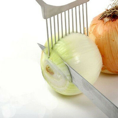 Oignon Tomate Slicer coupe Titulaire Guide d'aide Slicing Cutter Gadget