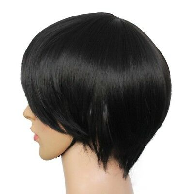 Men's Beautiful Male Black-Short Straight Hair Wig/Wigs Cosplay Party Hot Sale