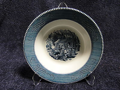 "Currier Ives Royal China Serving Bowl 9 1/8"" Maple Sugaring  2nd Quality"