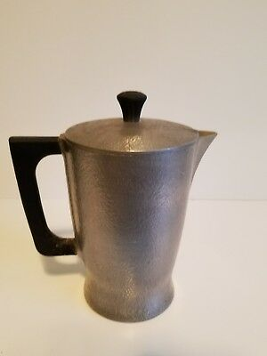 "Vintage hammered club aluminum Pitcher ~ 8"" Tall"