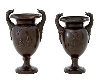 Near Pair Of 20Th Century Terracotta Urn Vases
