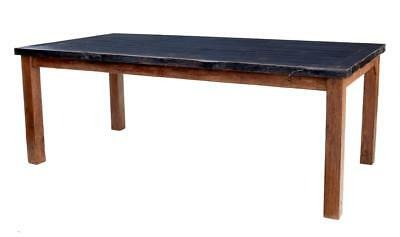 Large 19Th Century Teak And Painted Dining Table