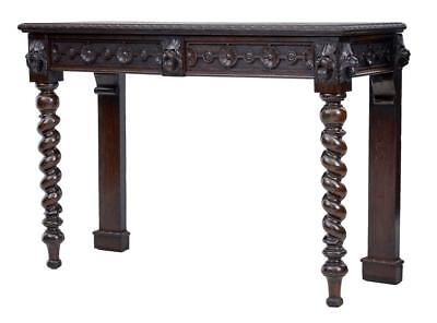 19Th Century Victorian Carved Oak Hall Table