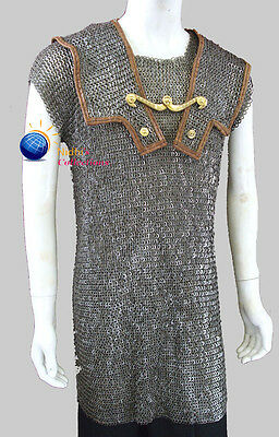 Chainmail HAMATA COSTUMES DRESS 9 MM X-LARGE Mild Steel Medieval Armor SCA