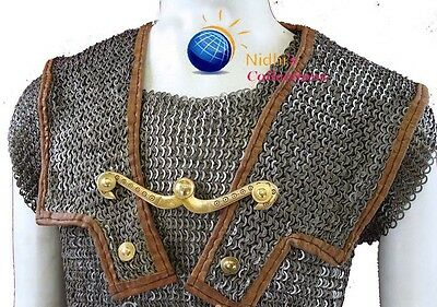 Chainmail HAMATA COSTUMES DRESS 9 MM LARGE Mild Steel Medieval Armor SCA