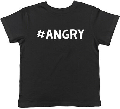 Hashtag Angry Funny Childrens Kids Boys Girls T-Shirt Tee
