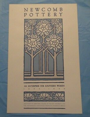 """NEWCOMB POTTERY"" SMITHSONIAN INSTITUTE VINTAGE POSTER 1984  (28"" x 18"")"
