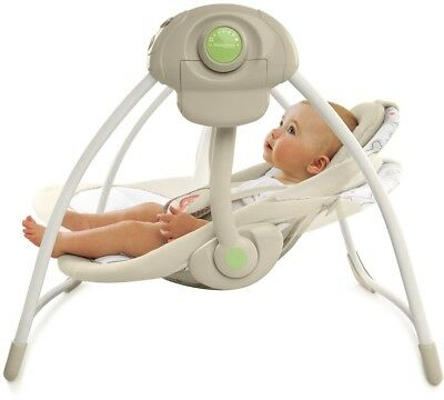 Ingenuity Cozy Plush Kingdom Infant Baby Swing  6 Speeds and 6 Melodies