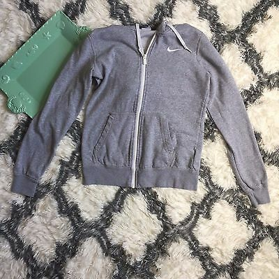 Nike Women's Long Sleeve Gray Zip Up Jacket Hoodie Size Small