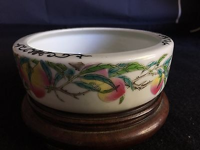 A Vintage Chinese Famille Rose Porcelain Brush Washer